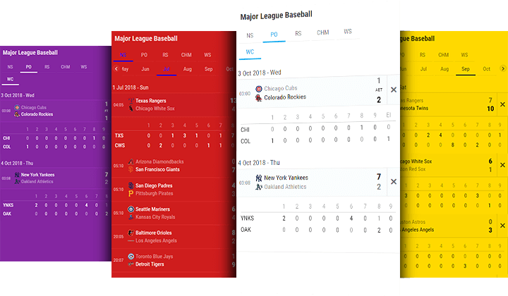 baseball fixtures and results desktop and mobile