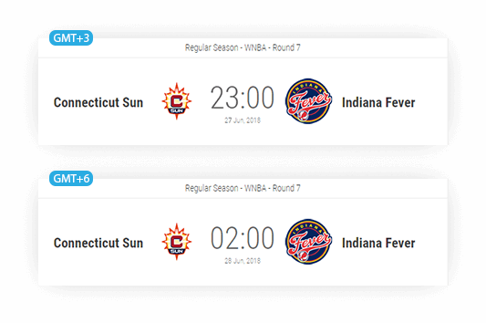 basketball match info timezone