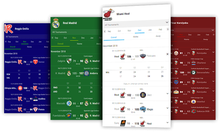 basketball team schedules desktop and mobile