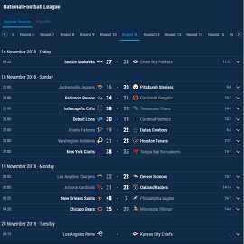 football fixtures and results