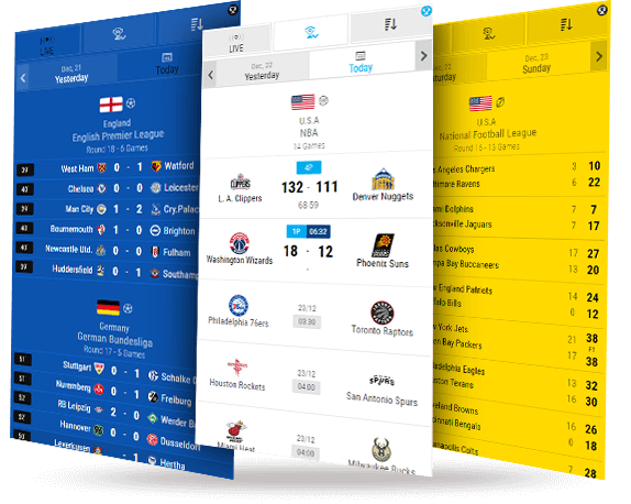 broadage powerful widgets livescores mobile