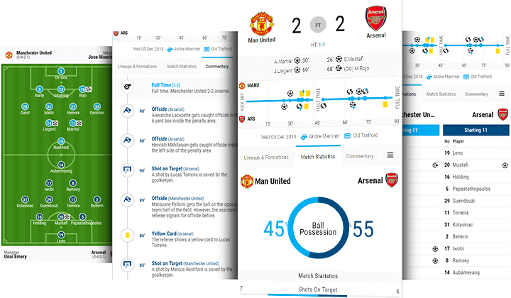 soccer match center desktop and mobile
