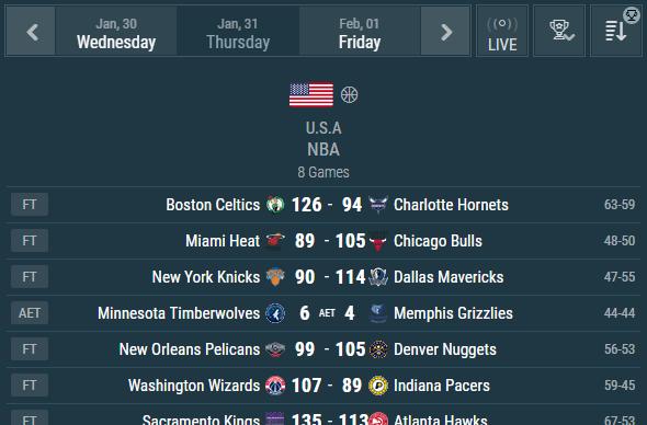 Basketball Livescore