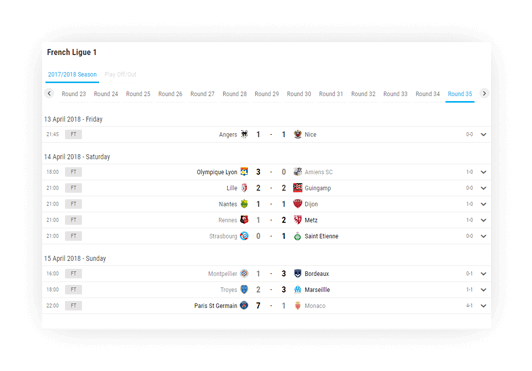 soccer fixture results advanced navigation options 1