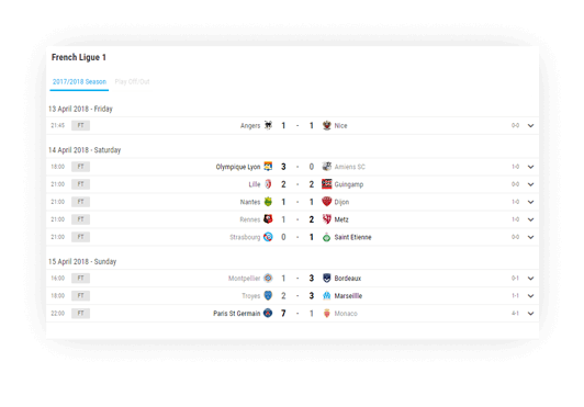 soccer fixture results advanced navigation options 2