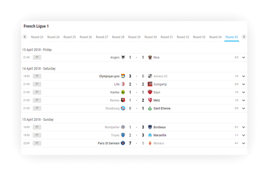 soccer fixture results advanced navigation options 3