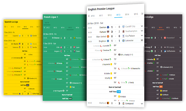soccer fixtures and results desktop and mobile