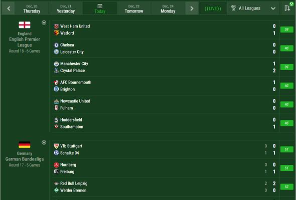 Soccer Livescore Widgets Live Widget Livescore Api Xml Feeds