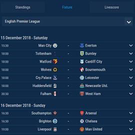 Soccer Scoreboard Widgets, Livescore,Data API XML Feeds