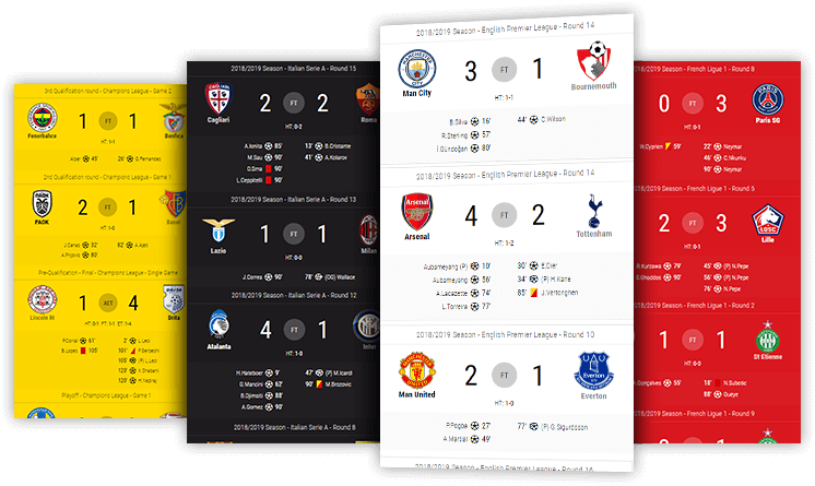 soccer scoreboard desktop and mobile