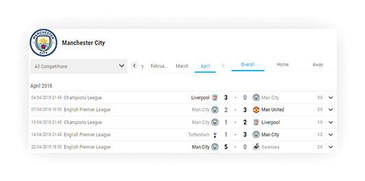soccer team schedule filtering fixture with data 2