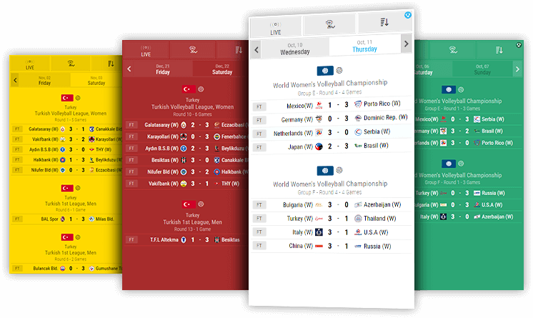 volleyball livescores desktop and mobile