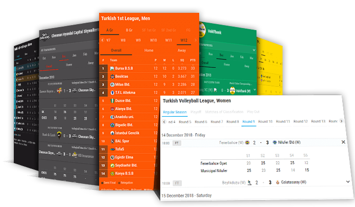 Volleyball Widgets, Volleyball Sports Data, XML API Feed
