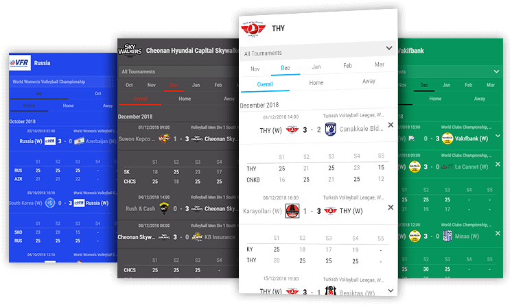 volleyball team schedules desktop and mobile